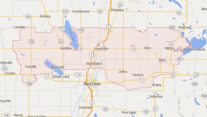 Lacombe County Map Alberta Farmland Values Trend   Lacombe County: News   Serecon